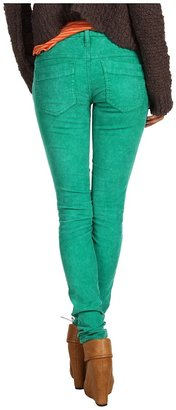 Free People Skinny Cord (Electric Emerald) - Apparel