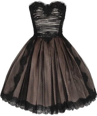 Dolce & Gabbana Strapless lace and tulle dress