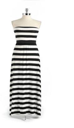 Red Haute Striped Maxi Dress
