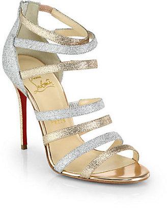 Christian Louboutin Marniere Strappy Glitter Sandals