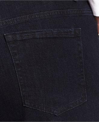 Jones New York Signature Plus Size Lexington Straight-Leg Jeans, Dark Water Wash