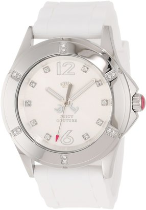 Juicy Couture Women's 1900995 Rich Girl White Silicone Strap Watch