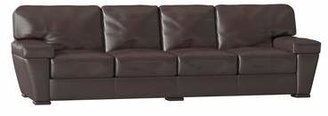 Omnia Leather Prescott Sofa Omnia Leather Body Fabric: Empire Butternut, Seat Cushion Fill: Standard Cushion Fill, Back Cushion Fill: Standard Cushion Fill