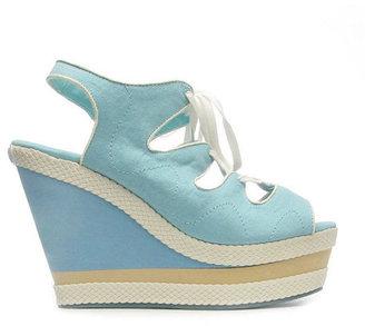 Philip Simon Shoes Adele Wedge Turquoise