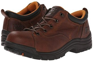 Timberland TiTAN(r) Oxford Alloy Safety Toe (Brown Full-Grain Leather) Women's Industrial Shoes