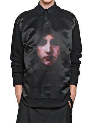 Givenchy Madonna Print Nylon Fleece Sweatshirt