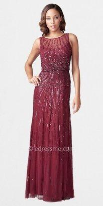Aidan Mattox Illusion Neck Beaded Dresses