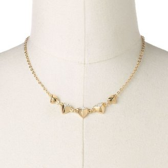 Lauren Conrad gold tone simulated crystal pyramid necklace