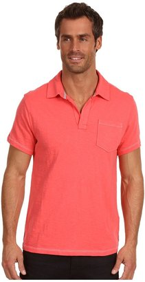 Calvin Klein Jeans Solid S/S Polo (Coral Rhyme) - Apparel