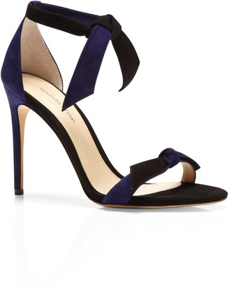 Alexandre Birman Ladylike Two-Tone Suede Sandals