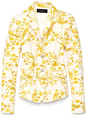 Wes Gordon Preorder Canopy Print Scuba Two Button Blazer