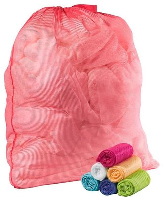 Container Store Mesh Laundry Bag Hot Pink