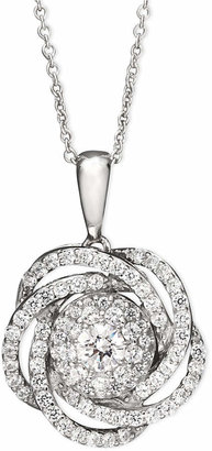 Wrapped in Love Diamond Knot Pendant Necklace in 14k White Gold (1 ct. t.w.)