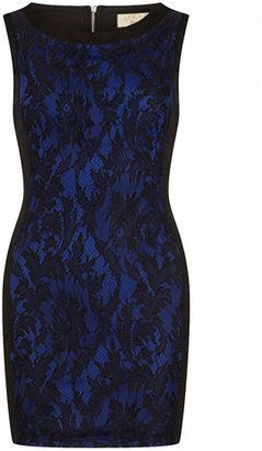 Dorothy Perkins Black/blue illusion dress