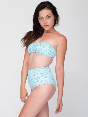 American Apparel Polka Dot Nylon Tricot High-Waist Swim Brief