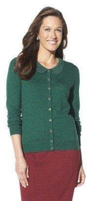 Merona Women's Peter Pan Studded Collar Cardigan Sweater - Assorted Colors