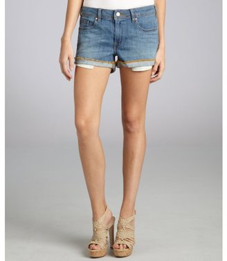 Genetic Denim light sky stretch denim 'Lost Boy Short' cut-off shorts