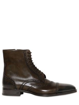 DSquared 2,5cm Brogue Style Leather Boots