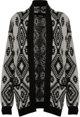 Topshop Knitted Aztec Cardi