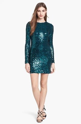 French Connection Sequin Sheath Minidress
