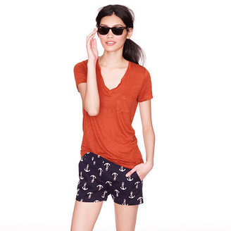 """J.Crew 3"""" Chino Short In Candy Anchor Print"""