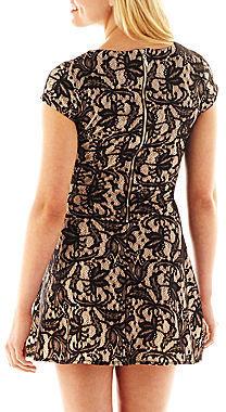 JCPenney Heart N Soul Short-Sleeve Lace Skater Dress