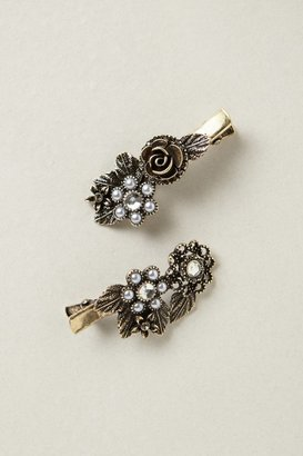 Anthropologie Heirloom Floral Clips