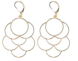 The Limited Interlocking Wire Circle Earrings