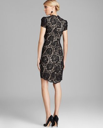 Cynthia Steffe Cap Sleeve Contrast Lace Dress - Allie