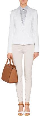 HUGO Stretch Cotton Alotte Blazer in White