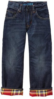 Gap 1969 Flannel-Lined Slouch Jeans