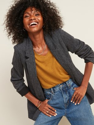 Old Navy Oversized Patterned Blazer for Women