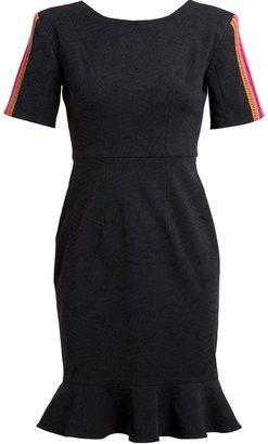 Thu Thu Tribal Embroidered Stretch Denim Dress