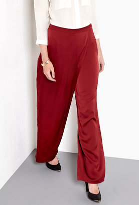 Raoul Wide Silk Crepe Wrap Trousers