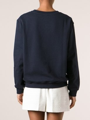 Carven Net Flower Sweatshirt Navy