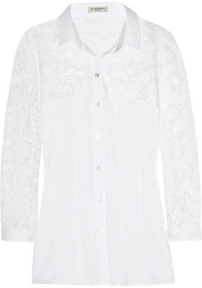 Burberry Lace and cotton-blend shirt