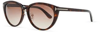 Tom Ford Acetate Cat-Eye Sunglasses, Havana