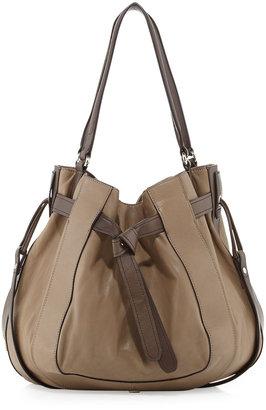 Kooba Parker Leather Hobo Bag, Taupe
