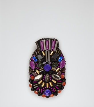 Reiss Maxie MASK EMBELLISHED BROOCH