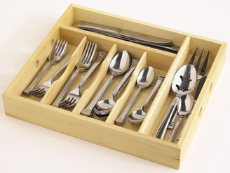 Cambridge Silversmiths Service for 8 Flatware Set with Wood Tray