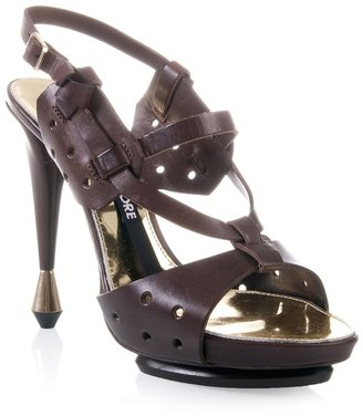 Berny Demore Perforated leather sandals
