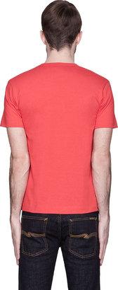 Comme des Garcons Red Black Eyes Logo T-Shirt