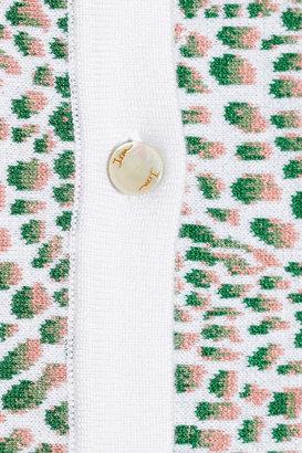 Issa Cropped stretch jacquard-knit cardigan