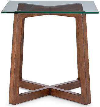 "JCPenney Destin Glass Top 24"" Square Side Table"
