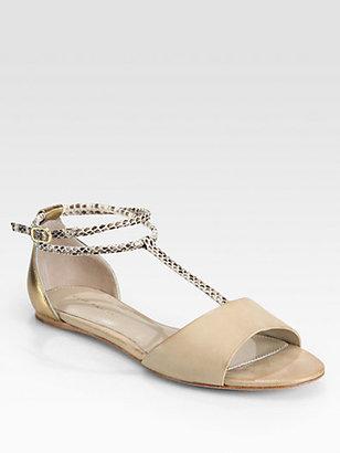 Elie Tahari Nairobi Leather Ankle-Strap Sandals