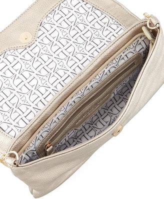 Danielle Nicole Rocco Stud-Flap Clutch Bag, Gold
