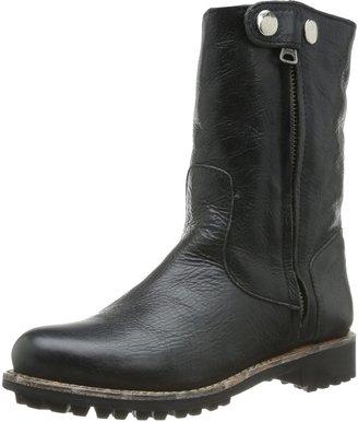Blackstone Womens HIGH ZIPPERBOOT Fur Biker Boots Black Size: 6