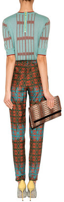 Sophie Theallet Seafoam/Rust Cashmere Knit Top