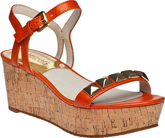 MICHAEL Michael Kors Persia Wedge Sandal Luggage Leather