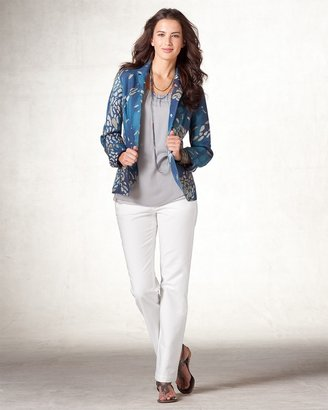 Coldwater Creek Splash print blazer